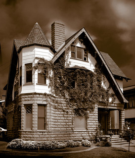 Could it be haunted?  Is that a ghost in the upstairs window? | by Michael in San Diego, California