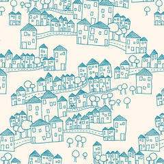 Houses Pattern | by birds & trees