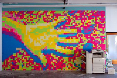 Post It Note Wall in Brickhouse | by kev/null