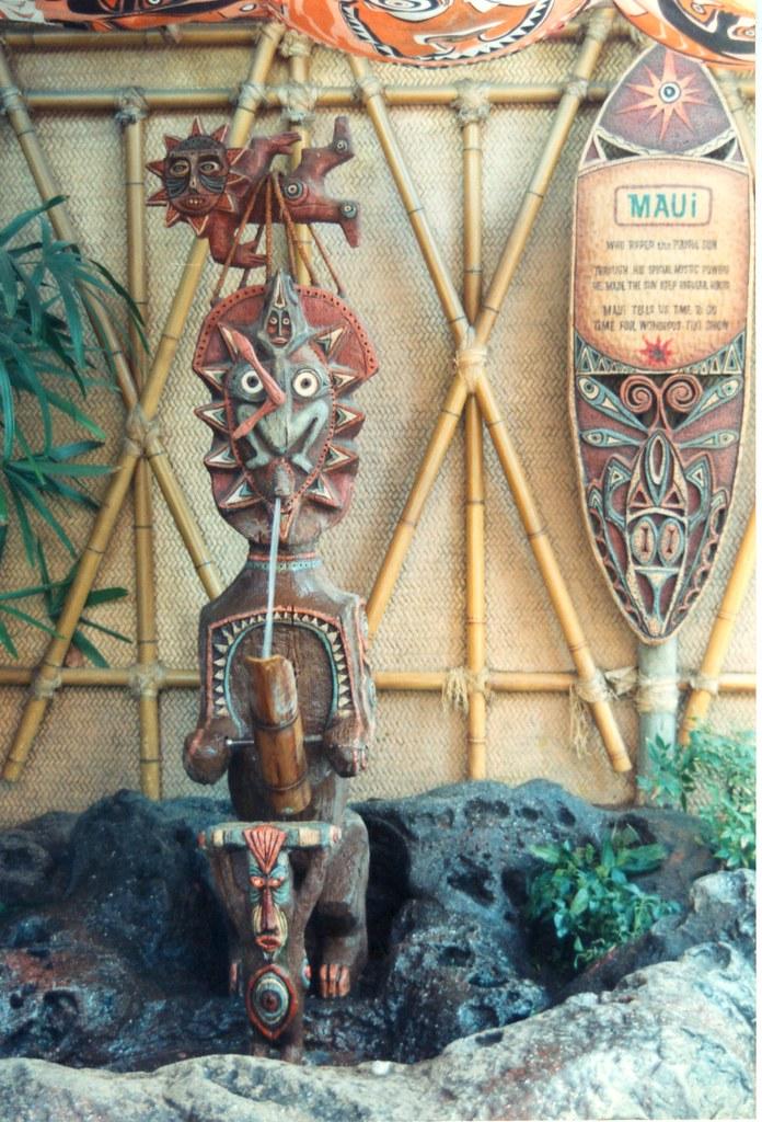 Maui Tiki Room Preshow Maui God Of Time Depicted As