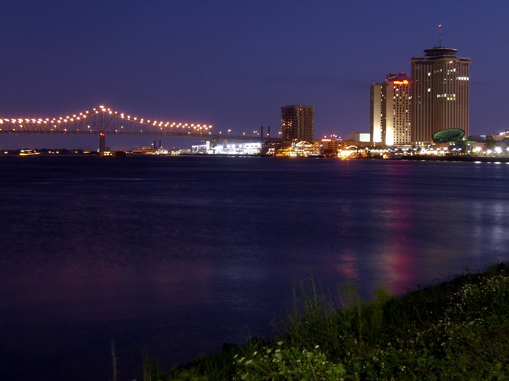 New Orleans Part Of The New Orleans Skyline And The