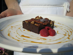 Vegan Fudge Brownie - plated | by Dayna McIsaac