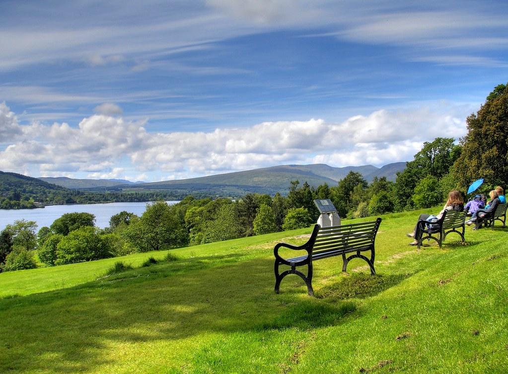 Loch Lomond Seen From Balloch Castle Scotland A Nice Day Flickr