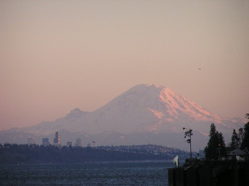 Seattle and Mt. Rainier from Kingston | by RoyBoi