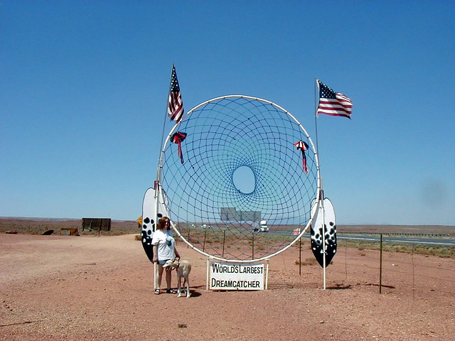 Biggest Dream Catcher World's Largest Dreamcatcher Meteor City Arizona Flickr 13