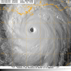 Katrina directly over the eye,Naval research lab | by lakerae