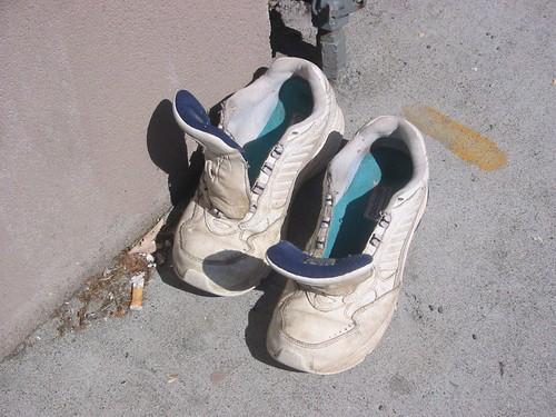 Laceless White Shoes Men