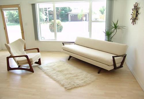 Full Size Upholstered Sleigh Bed