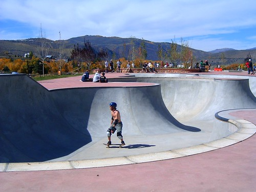 skateboarder at the skatepark in vail | by kristina is kool with a k