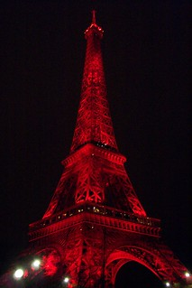 Eiffel Tower in red | by Caroline, Kelly, Connor & Jesse