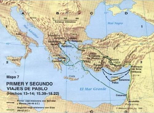 Pablo 1 viaje misionero el primer y segundo viaje for Cuarto viaje de pablo