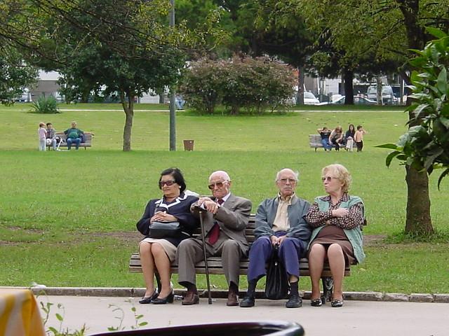 Old People On A Bench Old People On A Bench In Lisbon