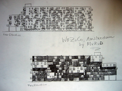 Front and Rear Elevation of WoZoCo | crazy window building..… | Flickr