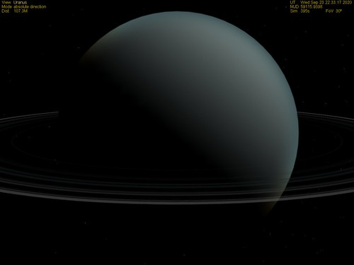 """Uranus with Rings 