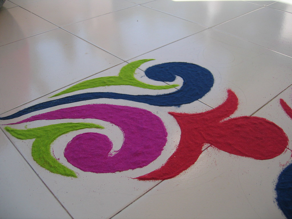 New Design Home Decoration Diwali Rangoli 2005 Jasjit Lamba Flickr