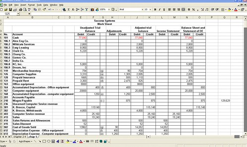 xcel spreadsheet