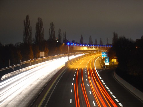 "highway ""A 9 Pyhrnautobahn"", long exposure 