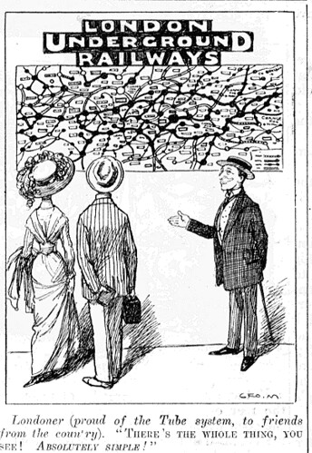 Cartoon from Punch showing the simplicity of the old Londo ...