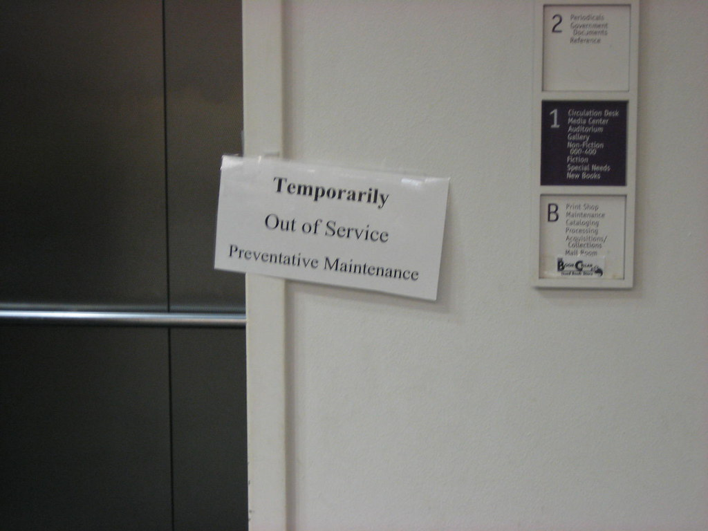temporarily out of service | I was in the basement of the li… | Flickr