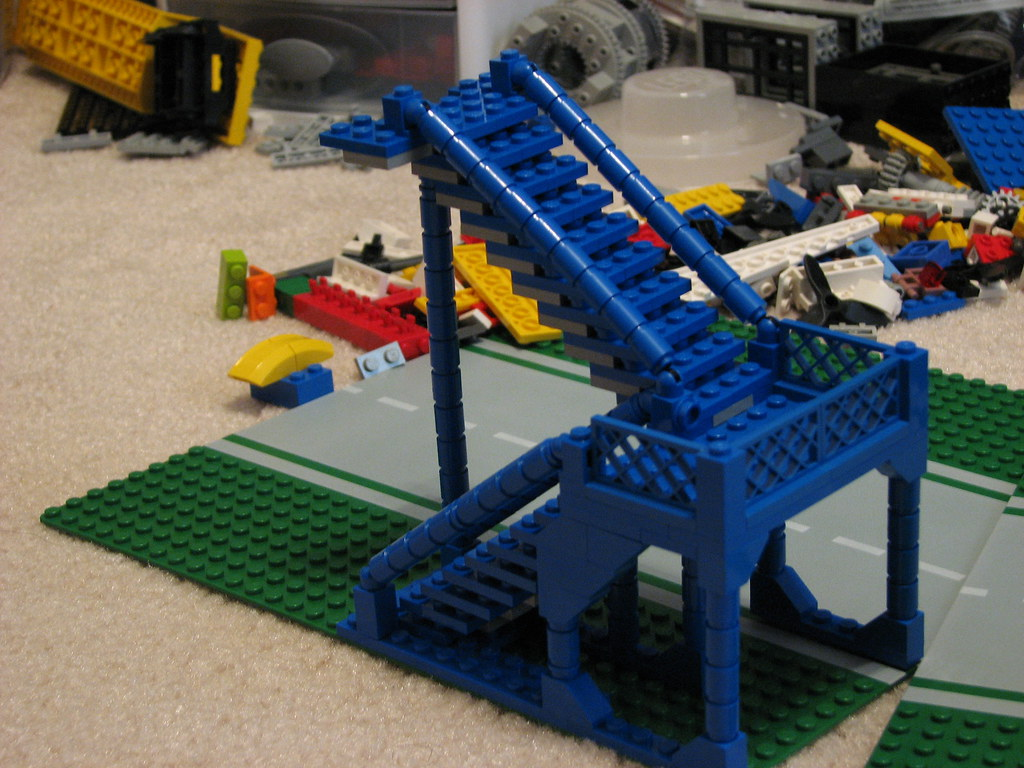 LEGO stairs   Identical sets of stairs made in Blue, Black ...