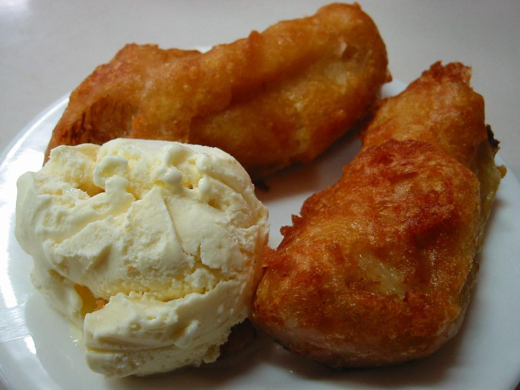 how to make fried banana with ice cream