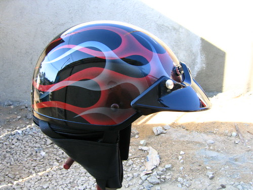 casco con flamas fantasmas | by Custom Steel