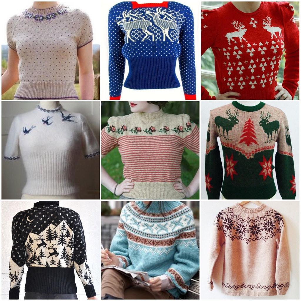 свитера зимние узоры