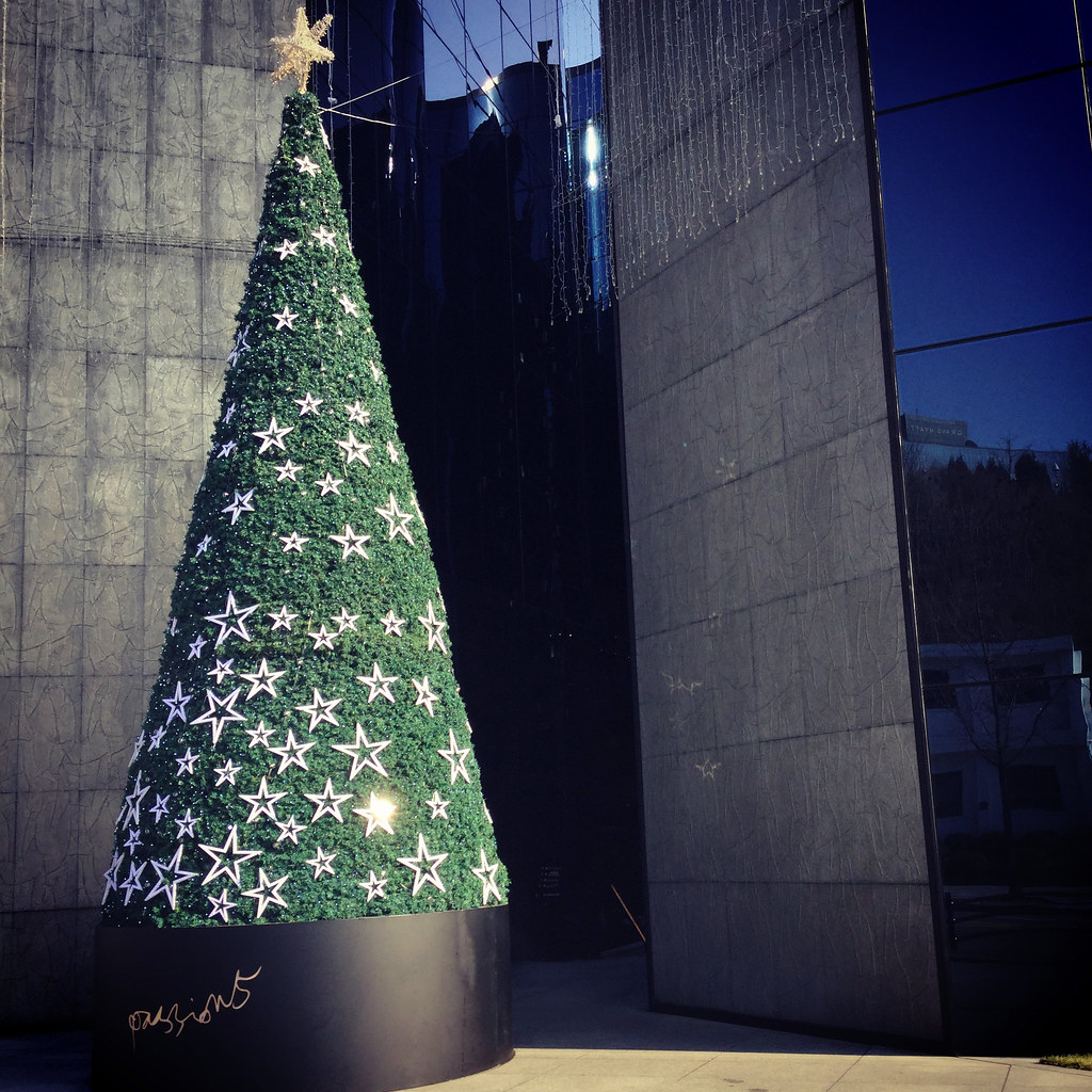 Christmas Tree, Hangangin, Seoul, Korea