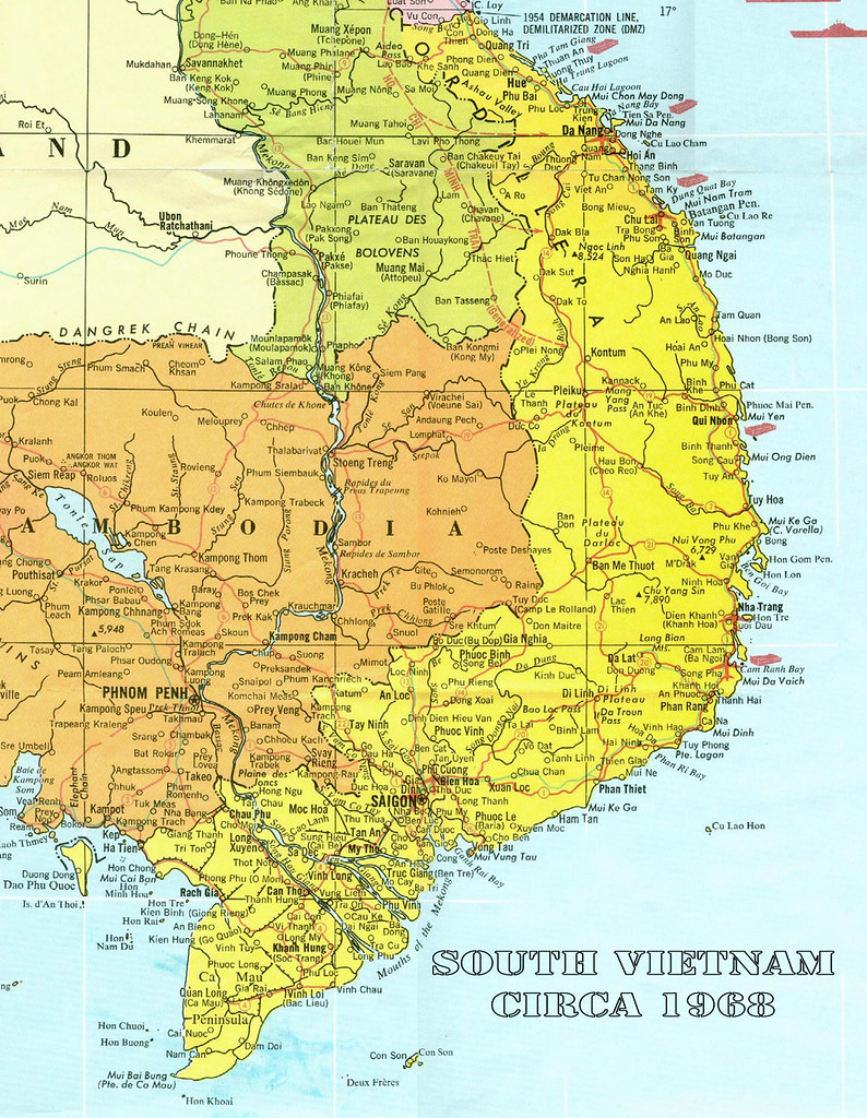 Map Of South Vietnam Map of South Vietnam circa 1968 | oldspooksandspies.org/Refe… | Flickr Map Of South Vietnam