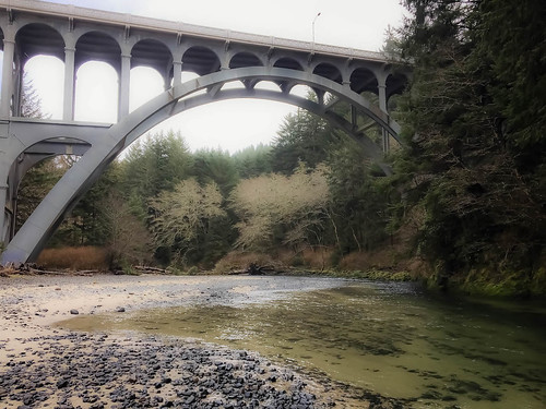 Cape Creek Bridge from Below