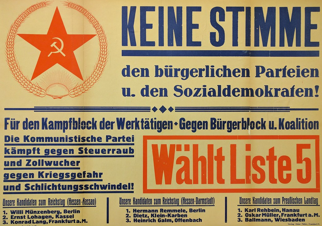 Communist Party of Germany poster | Title translation ...