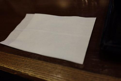 napkin for custom white balance