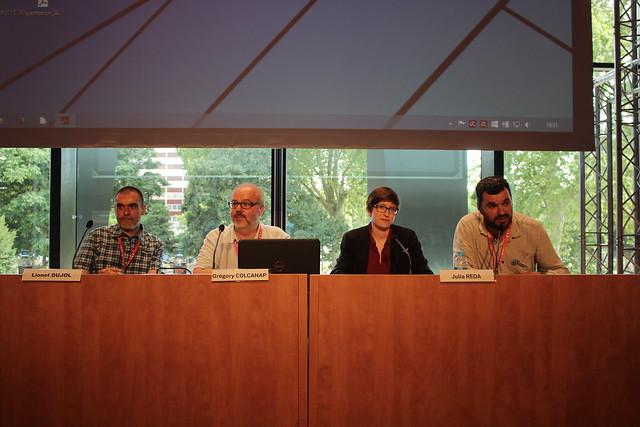 Lionel Dujol, Grégory Colcanap, Julia Reda, Philippe Colomb - Congrès ABF 2015