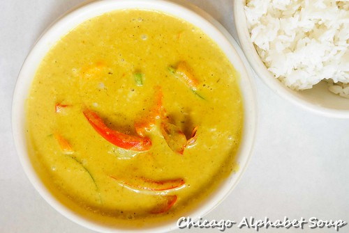 Yellow Curry Shrimp and Rice