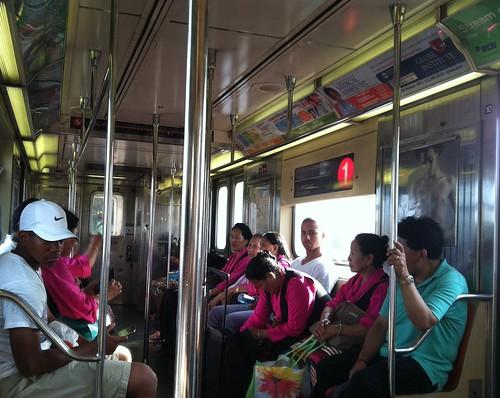 tibetan dancers in the subway (and a few civilians)