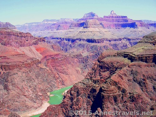 Very terrible quality picture of the view from Plateau Point, Grand Canyon National Park, Arizona