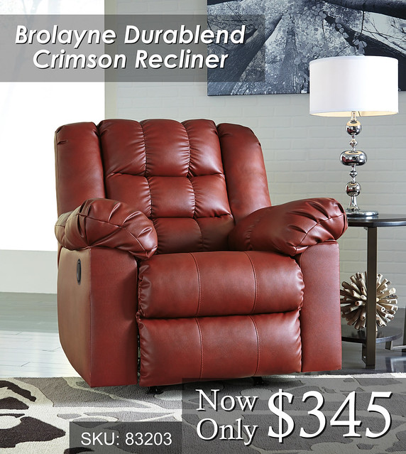 Brolayne Crimson Recliner