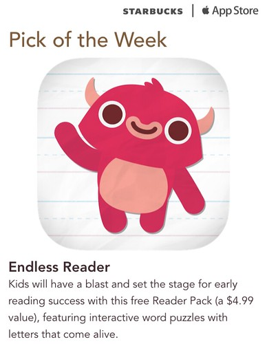 Starbucks iTunes Pick of the Week - Endless Reader