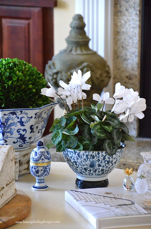 Blue and White-Vignette-Cyclaman-Housepitality Designs