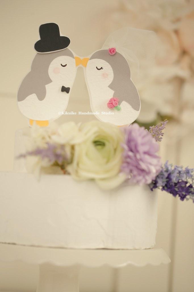 Penguins Wedding Cake Topper,Custom Penguins Wedding cake … | Flickr