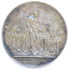 736 Jernegan's Lottery Medal reverse