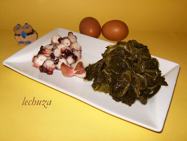 2-Revuelto grelos y pulpo-ingres.