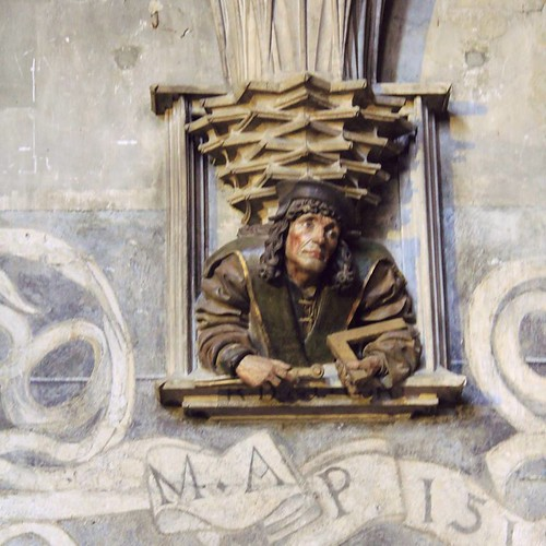 Matti Amnell Facebook: Self portrait and signature of the cathedral builder.