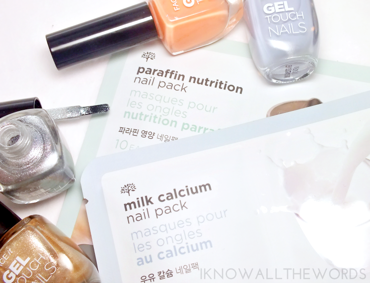 the face shop milk calcium nail pack and paraffin nutrition nail pack (1)