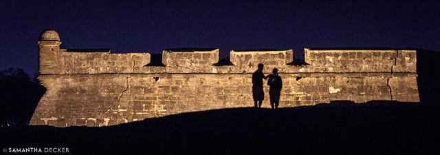Castillo de San Marcos Silhouettes