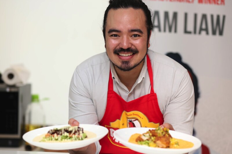Adam Liaw Proudly Sharing His Original Recipes_ Beef Bulgogi and Kimchi Wrap and Laksa fried Chicken Wrap With Pineapple Salsa