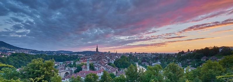 Sunset over Bern - Bern