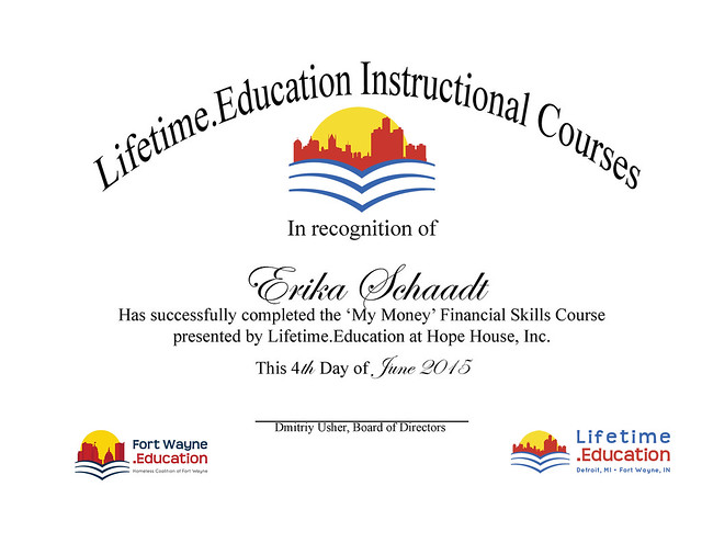 Erika, a Lifetime.Education Volunteer does a ton for her community. Thank you!