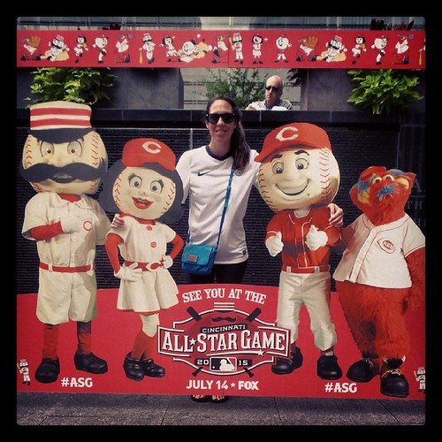 @genmae5 and friends at the @MLB #AllStarGame photo station on #FountainSquare. #ASG