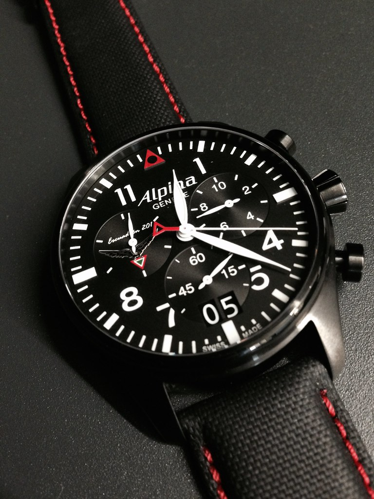 Alpina Watches Startimer Pilot Chronograph Big Date Escua Flickr - Alpina watches